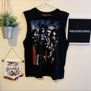Kiss Graphic Muscle Tank